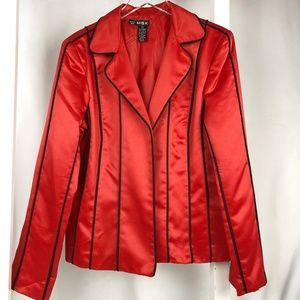 MSK Red and Black Jacket Satin XL